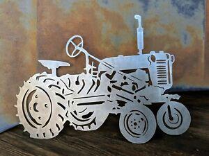Farmall International Cub Tractor Metal Wall Art Hanging Home Decor
