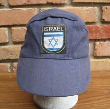 True Vintage Israel Blue Cotton Cap Military Cadet Style Hat Small/Child Size