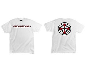 Independent Skateboard Trucks Shirt Bar Cross White