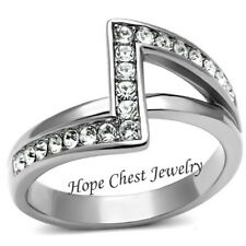 Hand Ring Size 5 - 10 Hcj Stainless Steel Designer Crystal Fashion Right