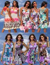 Sommerkleid Strandkleid Party Kleid bunt gemustert Kofferkleid NEW @ buy.2