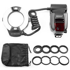NW-14EXM Close-up LED MACRO RING FLASH LIGHT w/ AF Assist Lamp f Canon Nikon