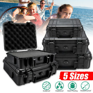 Waterproof Hard Plastic Carry Case Tools Storage Boxes Portable Organizer &