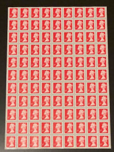 99 x 1ST CLASS STAMPS UNFRANKED OFF PAPER WITH GUM SELF ADHESIVE