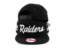 Raiders New Era 9Fifty Vintage Script Snapback Hat Cap Oakland Vegas LA Angeles