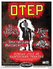 OTEP / THE BIRTHDAY MASSACRE / BENEATH THE SKY 2010 PORTLAND CONCERT TOUR POSTER