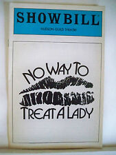 NO WAY TO TREAT A LADY Playbill STEPHEN BOGARDUS / LIZ CALLAWAY NYC 1985