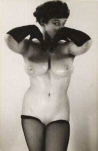 Vint Original Nude Lorraine Burnette Posing 99279 Glossy Photo