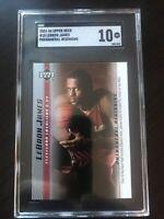 2003 UPPER DECK LEBRON JAMES PHENOMENAL BEGINNING RC # 10 SGC 10 Gem Mint Rookie
