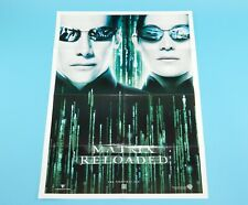 DOUBLE SIDED FOLDOUT POSTER THE MATRIX RELOADED / BUST 2001 HITKRANT MAGAZINE