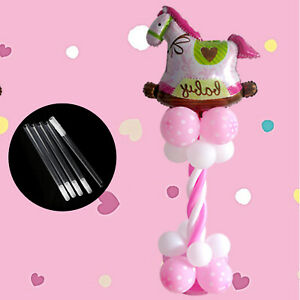 5 x Balloon Column Stand Pole Pipe Upright Arch Display Kit Wedding Decor