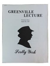 Vintage 1977 Scotty York Greenville Lecture Refresher Notes Magic Manuscript