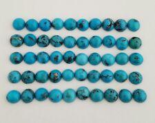 50 Round Shaped Natural Arizona Turquoise Cabochons 7-7.5mm