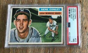 1956 Topps #17 Gene Conley Braves PSA 7 NM