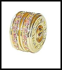 *New* Rhona Sutton gold plated 925 sterling silver pink double row sparkle bead