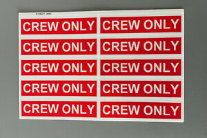 10 x Crew Only Aufkleber rot / weiß reflektierend Sticker neu Premium