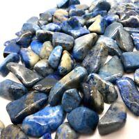 X6 Lapis Lazuli Semi-precious 8mm-13mm Tiny Stone Natural Gemstones Afghanistan