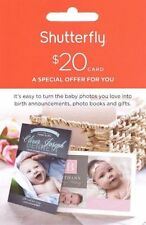 Shutterfly $20 off $20 or more purchase OnLine Promo Code exp Jan 31, 2018  KEBL