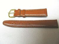 Classic Basic genuine leather 18mm watch band Calf tan UNIVERSAL FIT
