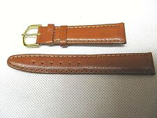 Classic Basic genuine leather 18mm watch band Calf tan fits Omega Vintage