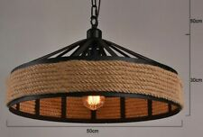 Industrial pendant light with rope Shade Light Pendant Ceiling Lamp E27