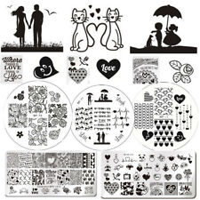 Valentine's Day Nail Art Image Stamping Templates Heart Love Rose Born Pretty