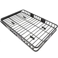 Black 64' Roof Rack Cargo Top Luggage Holder Carrier Basket w/ Extension Travel