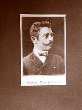 Stampa 1923 Ernesto Mancastroppa Collaboratore Rivista Illustrazione Italiana