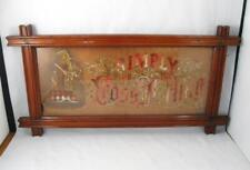 ANTIQUE VICTORIAN PUNCH PAPER MOTTO SAMPLER ``SIMPLY TO THY CROSS I CLING``