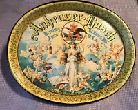Vintage Anheuser-Busch Serving Metal Beer Tray with Cherubs & Angels St Louis MO