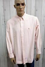 Camicia RALPH LAUREN Uomo Taglia 2XL Chemise Cotone Shirt Casual Manica Lunga