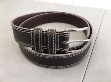 NEW! Nordstrom Men's TULLIANA Faux Leather Belt, Size 42 - Dark Brown