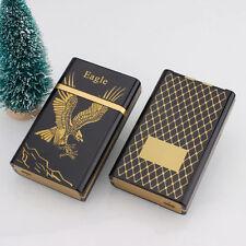 Utility Golden Eagle USB Flameless Lighter Rechargeable 8x Cigarette Case Set