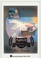 1996/97 Futera Cricket Decider 1st Day Steve Waugh Platinum SW3 Test Average