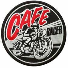 Retro Cafe Racer Biker Accessory Iron-on Patch