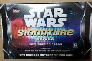 2021 Topps Star Wars Signature Series Factory Sealed Hobby Box