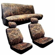 Camo Seat Covers Front Buckets Rear Bench Muddy Water CS3