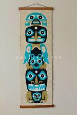 MCM DANISH MODERN PRIMITIVE ART TAPESTRY! VTG TEAK 60'S WALL ROSS LITTELL ERA