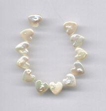 "FRESHWATER PEARL HEART SHAPE BEADS - 4.5"" Strand - 1093"