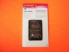 Singer 12 Pack Assorted Tapestry Needles - Size 18-22 Extra Long Eyed, Blunt Tip