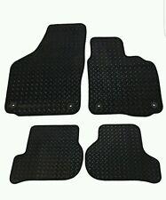Skoda Octavia (2008-2013) New Black Checker Rubber Tailored Car Floor Mats.