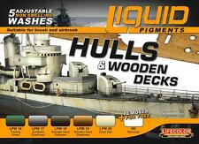Lifecolor LFC-LP4 Hulls & Wooden Decks Ship Weathering Liquid Pigments Set