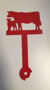 Cow Farming Metal Mailbox Flag Farming Painted CNC Metal Art Hardware Included