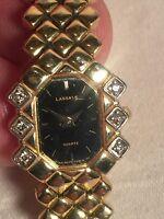 Seiko LASSALE women's ladies gold Diamond quartz watch 4N20-5098 RO