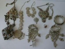 ASSORTMENT OF INDIAN  JEWELLERY INCL 2 X 5 RING HAND JEWELLERY