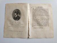 1819 Ortolani, Ritratto/Bio de' il Re Enzo, Rimatore, Palermo - Bologna