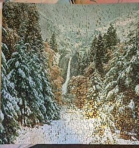 """VINTAGE  SPRINGBOK JIGSAW PUZZLE """"WINTER IN THE MOUNTAINS"""""""