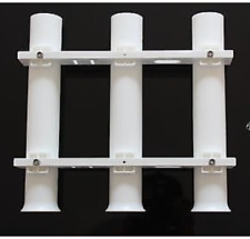 PLASTIC TRIPLE 3-ROD RACK VERTICAL HOLDER ORGANISER - Boat/Fishing/Storage/Lure