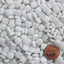 8mm Mosaic Glass Tiles - 2 Ounces About 87 Tiles - White