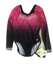 NWT GK Elite Sublimated Ombre Competition Leotard A2XL AXXL